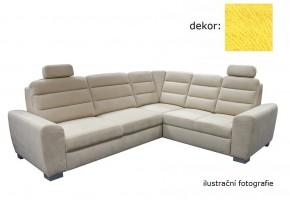 Rohová sedačka rozkládací Fenix pravý roh ÚP žlutá