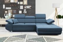 Rohová sedačka rozkládací Gans pravý roh ÚP modrá