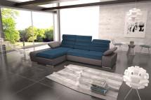 Rohová sedačka rozkládací Korfu levý roh ÚP šedá, modrá
