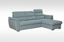 Rohová sedačka rozkládací Mediolan pravý roh ÚP modrá