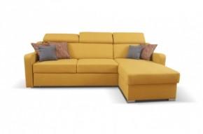 Rohová sedačka rozkládací Meli univerzální roh ÚP žlutá
