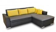 Rohová sedačka rozkládací Vanilla pravý roh ÚP černá, šedá,žlutá