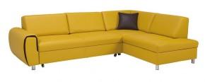 Rohová sedačka rozkládací Vigo pravý roh ÚP žlutá