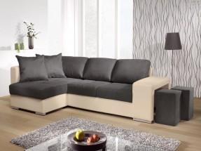 Rohová sedačka Sempre levý roh (pulse D211/sparta antrazit C265)