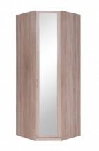 Rohová skříň Cassanova - 1x dveře se zrcadlem