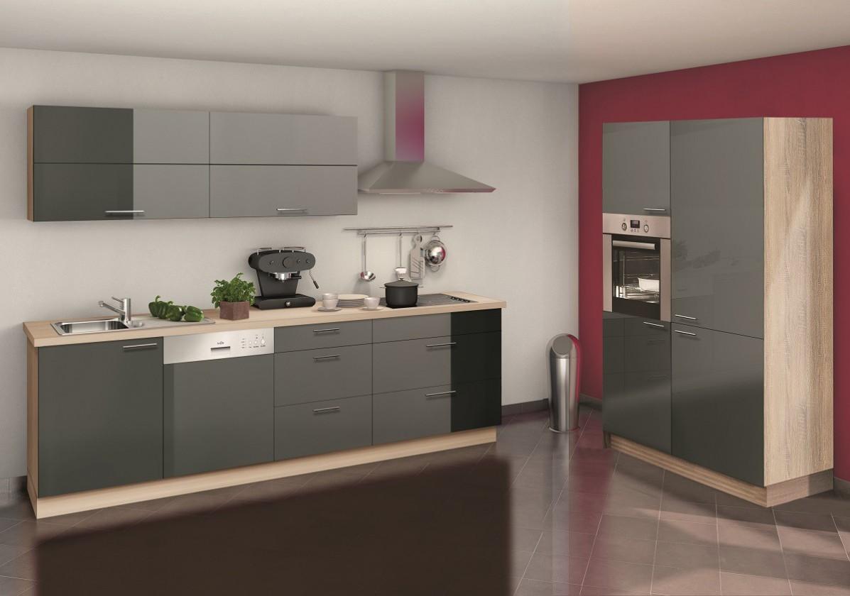 Rohová Stilla - kuchyňský blok (šedá)