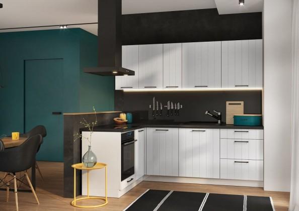 Rohové kuchyně Rohová kuchyně Grace levý roh 230x160 cm (bílá mat)