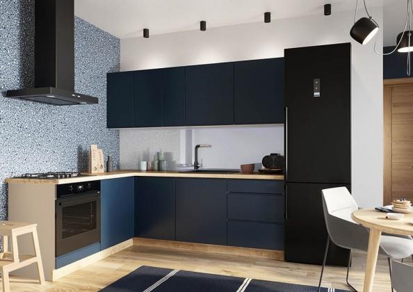 Rohové kuchyně Rohová kuchyně Minea levý roh 230x180 (modrá mat)