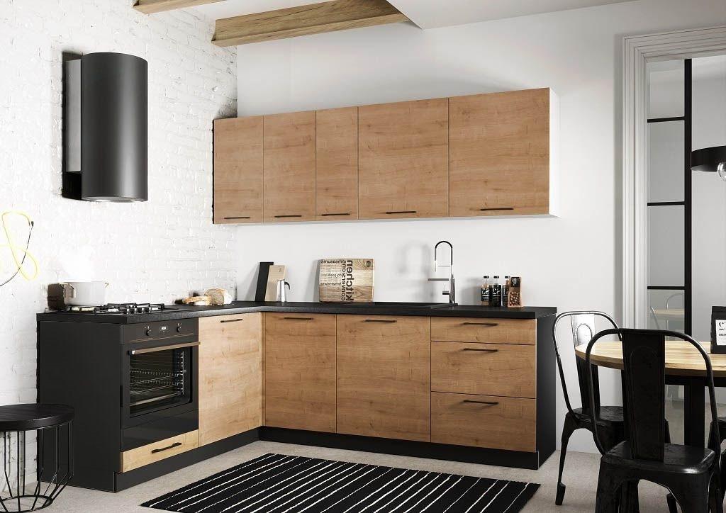 Rohové kuchyně Rohová kuchyně Natali levý roh 230x180 cm (dub lefkas)