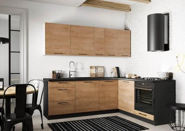 Rohové kuchyně Rohová kuchyně Natali pravý roh 230x180 cm (dub lefkas)
