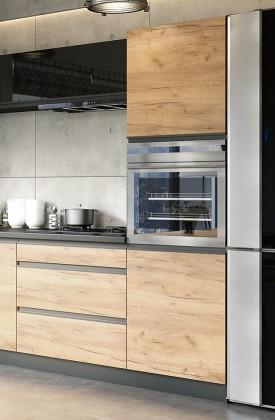 Rohové kuchyně Vysoká skříňka na vestavnou troubu ke kuchyni Brick