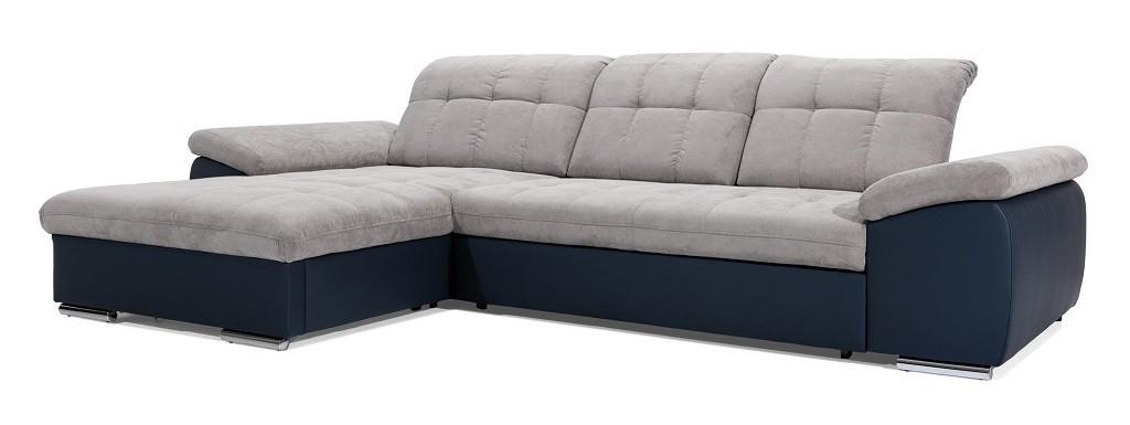 Rohové sedací soupravy rozkládací Rohová sedačka rozkládací Ateca levý roh ÚP šedá, modrá