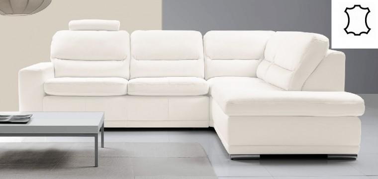 Rohové sedací soupravy rozkládací Rohová sedačka rozkládací Bono pravý roh bílá