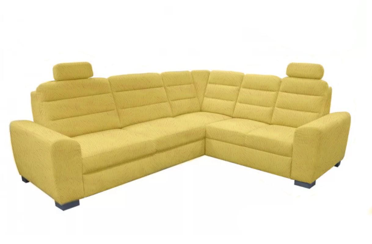 Rohové sedací soupravy rozkládací Rohová sedačka rozkládací Fenix pravý roh ÚP žlutá