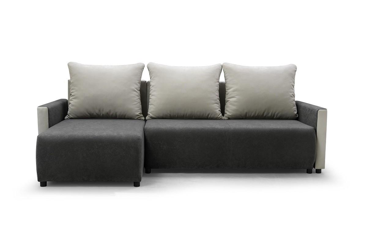Rohové sedací soupravy rozkládací Rohová sedačka rozkládací Finezja univerzální roh ÚP šedá, bílá