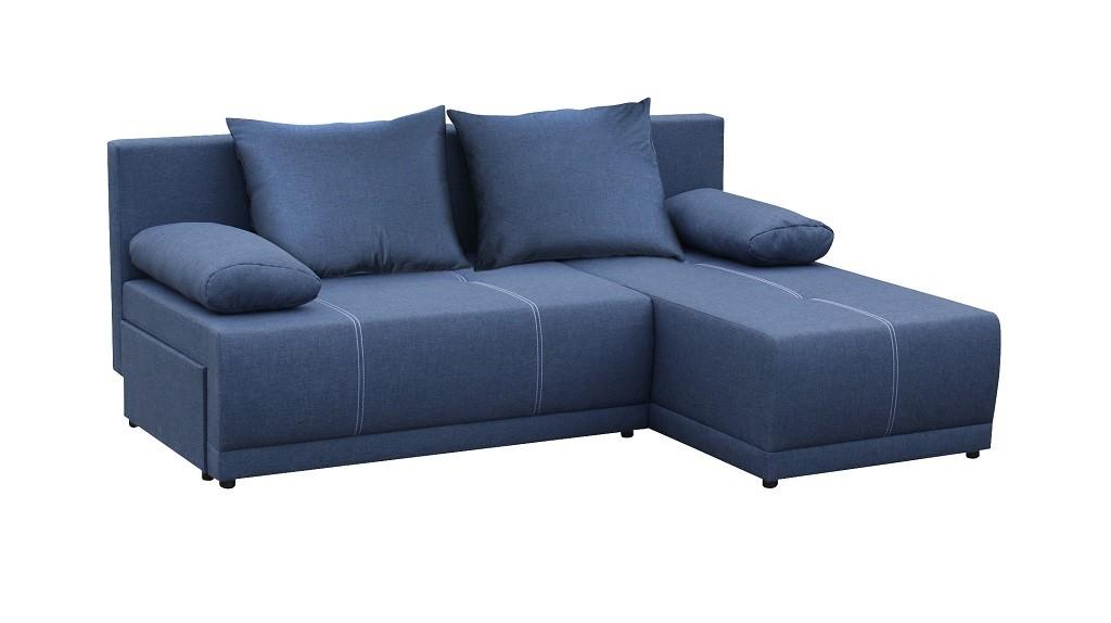 Rohové sedací soupravy rozkládací Rohová sedačka rozkládací Picolo univerzální roh ÚP modrá