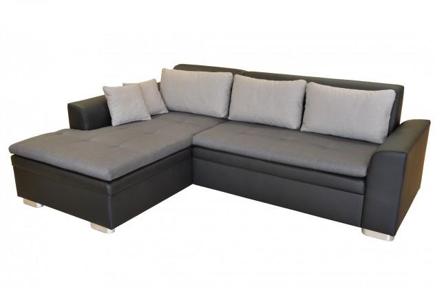 Rohové sedací soupravy rozkládací Rohová sedačka rozkládací Vanilla levý roh ÚP černá, šedá