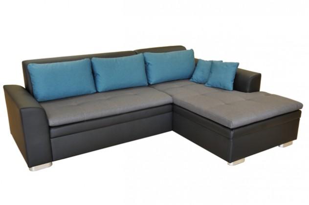 Rohové sedací soupravy rozkládací Rohová sedačka rozkládací Vanilla pravý roh ÚP černá,šedá,modrá