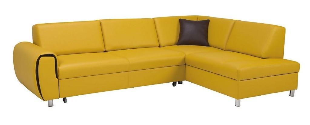 Rohové sedací soupravy rozkládací Rohová sedačka rozkládací Vigo pravý roh ÚP žlutá