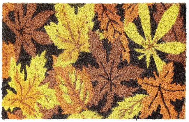 Rohožky Kokosová rohožka Listy (40x60 cm)