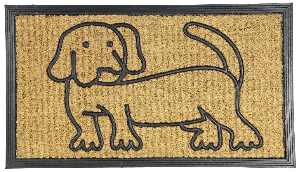 Rohožky Kokosová rohožka Pes (40x70 cm)