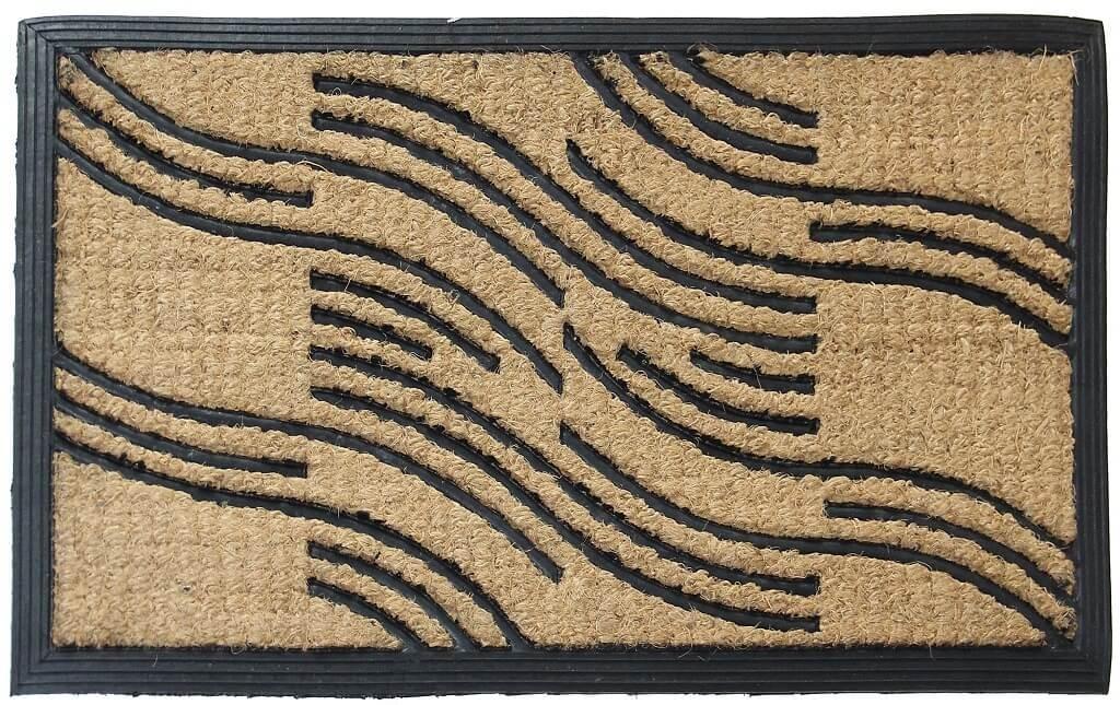 Rohožky Kokosová rohožka Vlnky (40x70 cm)