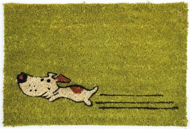 Rohožky Kokosová rohožka Zelený pes (40x60 cm)