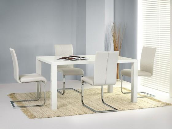 Ronald - Jídelní stůl, rozkládací 80x120-160 (bílá)