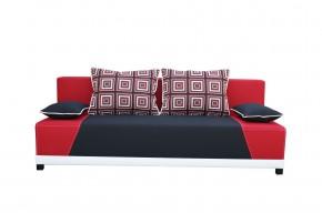 Rosso - Pohovka (mura 100/mura 60/polštáře vzor 196/1 červený)