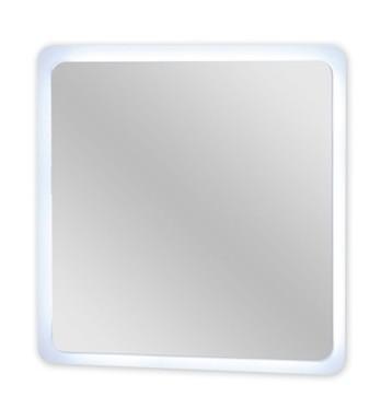Rouen - Zrcadlo s LED osvětlením 60 cm (bílá vysoký lesk)