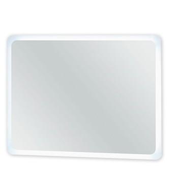 Rouen - Zrcadlo s LED osvětlením 80 cm (bílá vysoký lesk)