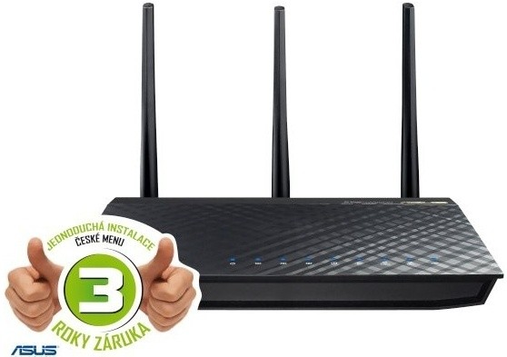 Router Asus RT-AC66U Dual-Band Wireless 802.11ac-AC1750 router,2xUSB