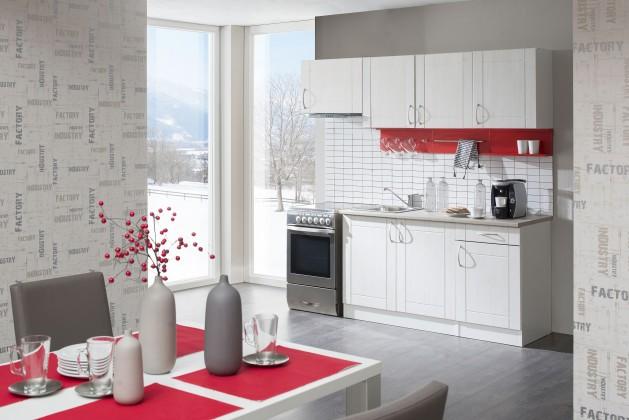 Rovná Aneta - Kuchyňský blok 210 C (bílá/pino aurelio/PD písek)
