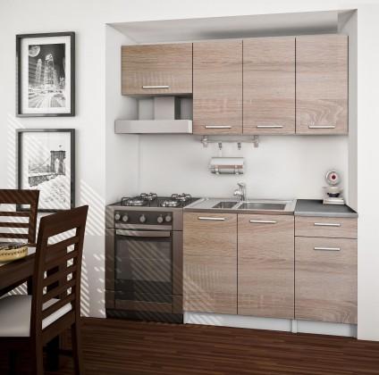 Rovná Basic - Kuchyňský blok 120/180cm (dub sonoma)