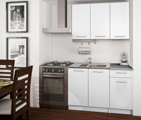 Rovná Basic - Kuchyňský blok A, 120 cm (bílá)