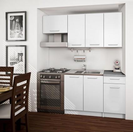 Rovná Basic - kuchyňský blok A, 180 cm (bílá)