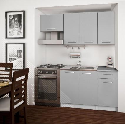 Rovná Basic - kuchyňský blok A, 180 cm (šedá)