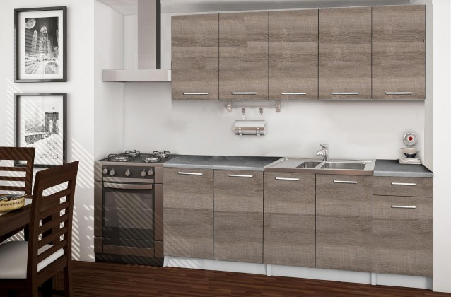 Rovná Basic - kuchyňský blok A, 200 cm (dub truffle)