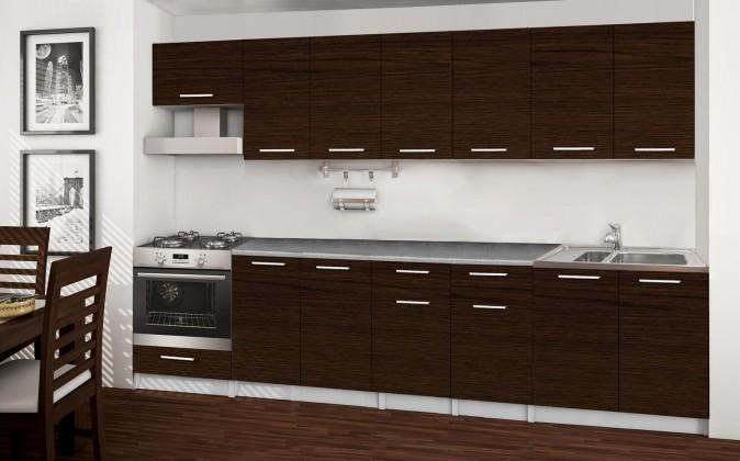 Rovná Basic - kuchyňský blok A, 300 cm (wenge)
