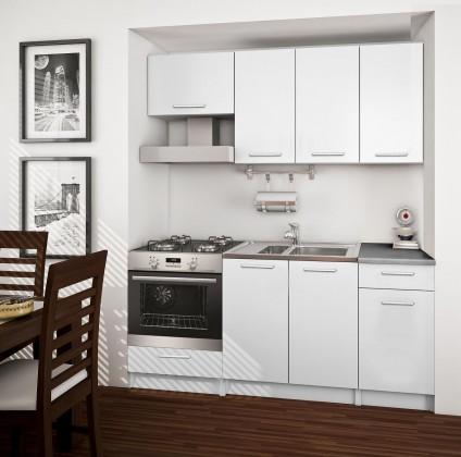 Rovná Basic - kuchyňský blok B, 180 cm (bílá)