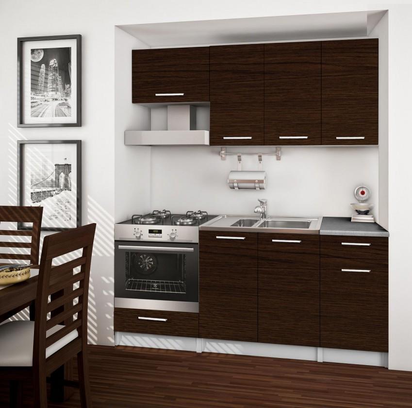 Rovná Basic - kuchyňský blok B, 180 cm (wenge)