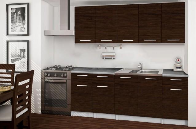 Rovná Basic - kuchyňský blok B, 200 cm (wenge)