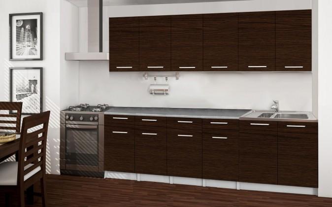 Rovná Basic - kuchyňský blok B, 240 cm (wenge)