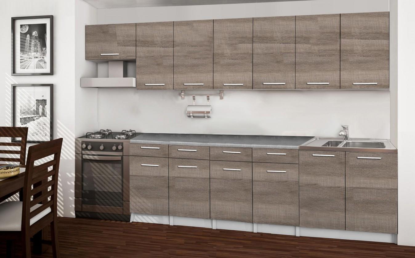 Rovná Basic - kuchyňský blok B, 300 cm (dub truffle)