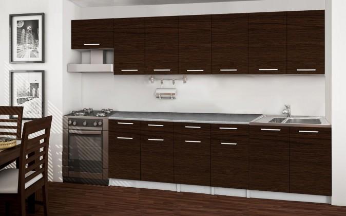 Rovná Basic - kuchyňský blok B, 300 cm (wenge)