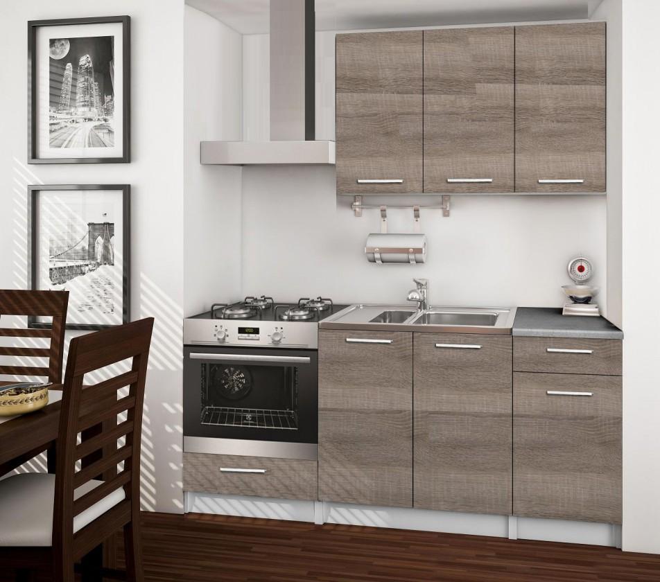 Rovná Basic - kuchyňský blok C, 180 cm (dub truffle)