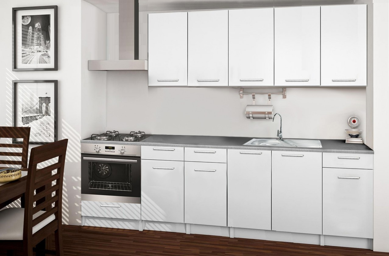 Rovná Basic - kuchyňský blok D 260 cm