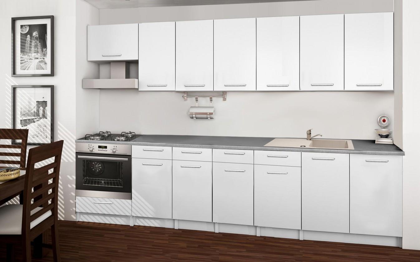 Rovná Basic - kuchynský blok D 300 cm