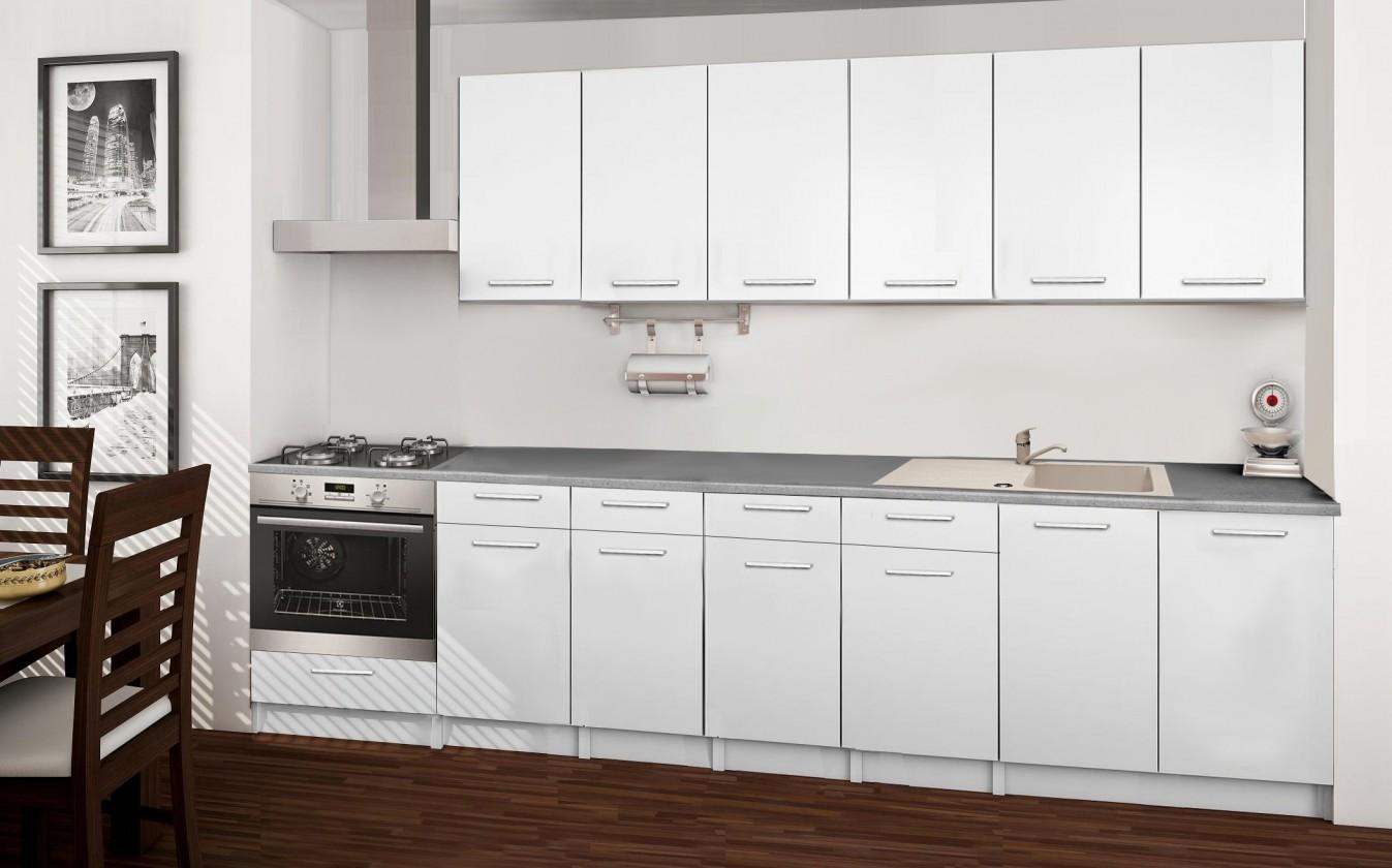 Rovná Basic - kuchyňský blok E 300 cm