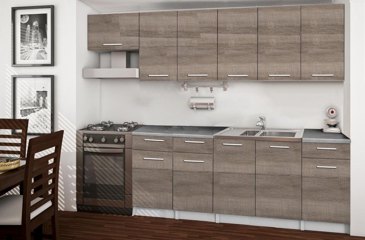 Rovná Basic - kuchyňský blok F, 260 cm (dub truffle)